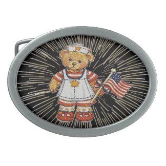 Boucle De Ceinture Ovale Ours de nounours vintage avec la boucle de