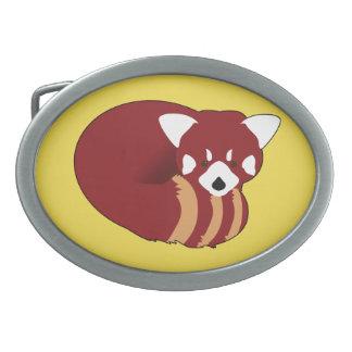 Boucle De Ceinture Ovale Panda rouge