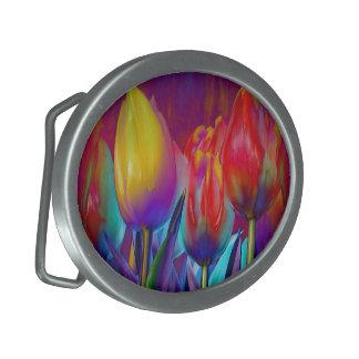 Boucle De Ceinture Ovale Ressort coloré