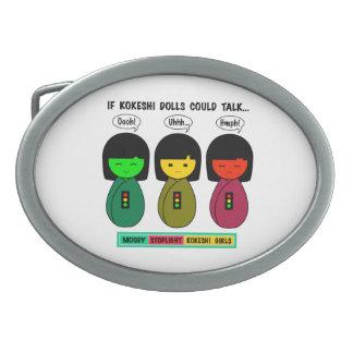 Boucle De Ceinture Ovale Si les poupées de Kokeshi pourraient parler