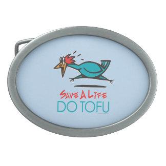 Boucle De Ceinture Ovale Tofu végétarien drôle