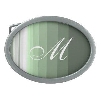 Boucle De Ceinture Ovale Vert de région boisée