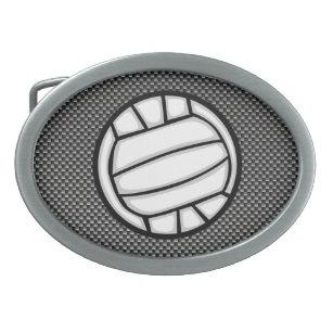 5d408f20dbd0 Boucle De Ceinture Ovale Volleyball de fibre de carbone de Faux