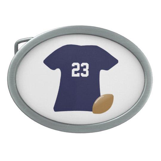 Boucle De Ceinture Ovale Votre chemise du football avec la boule