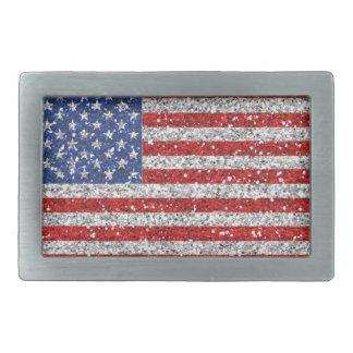 Boucle de ceinture patriotique de scintillement