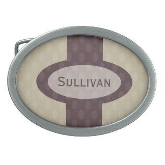 Boucle de ceinture personnalisée rétro par ovale -