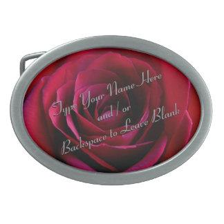 Boucle de ceinture personnalisée rose de rose roug