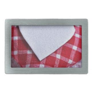 Boucle De Ceinture Rectangulaire Amour Checkered Valentine de symbole de décoration