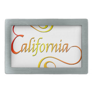 Boucle De Ceinture Rectangulaire Art de typographie de la Californie