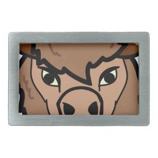 Boucle De Ceinture Rectangulaire art de visage de bison
