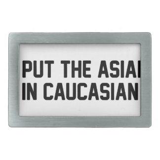 Boucle De Ceinture Rectangulaire Asiatique dans le Caucasien
