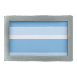 Boucle De Ceinture Rectangulaire Bandes - bleu