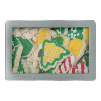 Boucle De Ceinture Rectangulaire Biscuits de sucre faits maison givrés décorés de