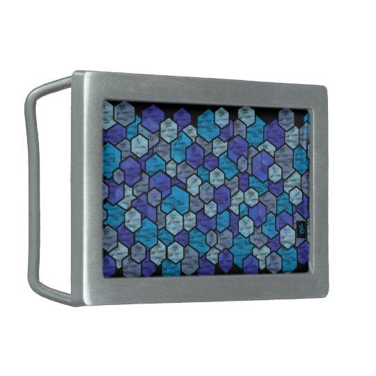 Boucle De Ceinture Rectangulaire blue glass