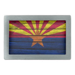37c66abdb2d5 Boucle De Ceinture Rectangulaire Bois rustique de drapeau de l Arizona