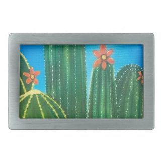 Boucle De Ceinture Rectangulaire Cactus coloré