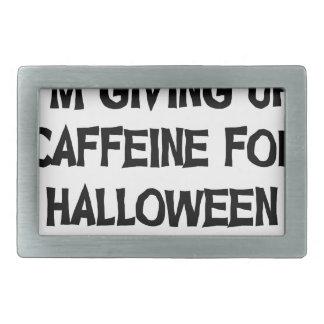Boucle De Ceinture Rectangulaire Caféine pour Halloween