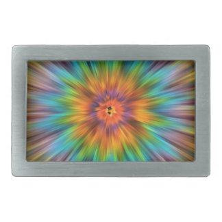Boucle De Ceinture Rectangulaire Colorant coloré Starburst de cravate