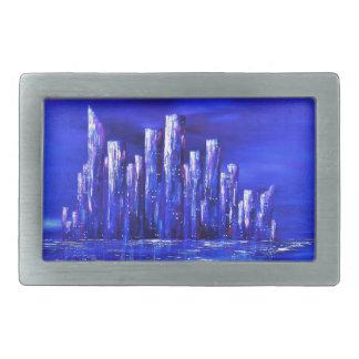 Boucle De Ceinture Rectangulaire Conception bleue urbaine de Jane Howarth