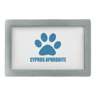 BOUCLE DE CEINTURE RECTANGULAIRE CONCEPTIONS DE CAT D'APHRODITE DE LA CHYPRE