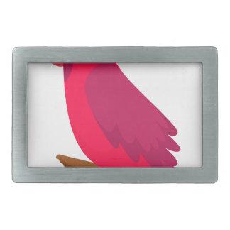 Boucle De Ceinture Rectangulaire cool coloré de conception d'art d'oiseau