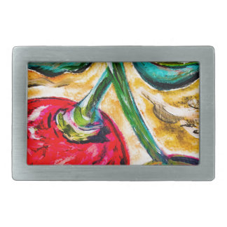 Boucle De Ceinture Rectangulaire Couleur audacieuse de cerises