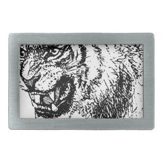 Boucle De Ceinture Rectangulaire Croquis principal de tigre