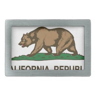 Boucle De Ceinture Rectangulaire Drapeau de la Californie