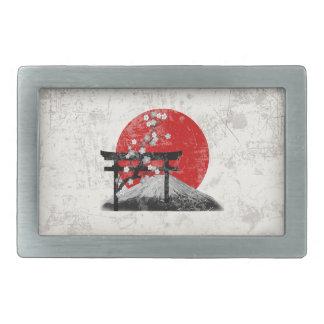 Boucle De Ceinture Rectangulaire Drapeau et symboles du Japon ID153