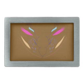 Boucle De Ceinture Rectangulaire Ethno brun d'éléments de conception