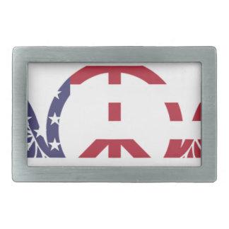 Boucle De Ceinture Rectangulaire Étoiles bleues blanches rouges Etats-Unis de