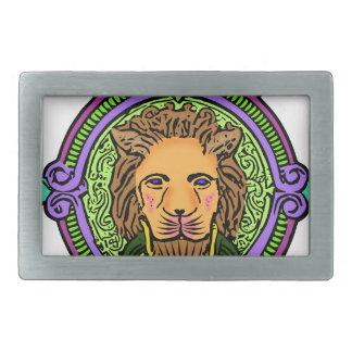 Boucle De Ceinture Rectangulaire Exclusivité d'art de lion