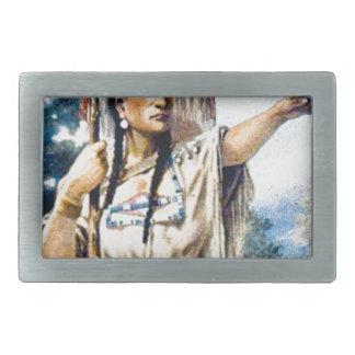 Boucle De Ceinture Rectangulaire femme indienne de squaw