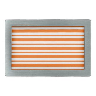 Boucle De Ceinture Rectangulaire Filet horizontal orange