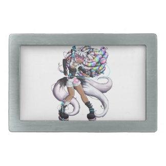 Boucle De Ceinture Rectangulaire Fille de Kitsune de Cyber