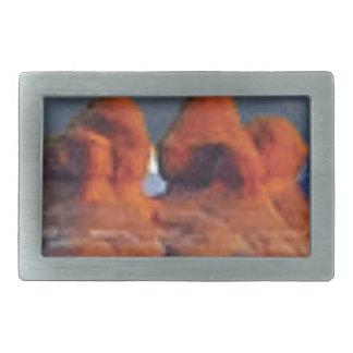 Boucle De Ceinture Rectangulaire formes des roches rouges