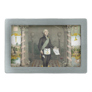 Boucle De Ceinture Rectangulaire George Washington en tant que franc-maçon