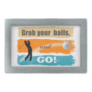 Boucle De Ceinture Rectangulaire Grippage drôle de golf vos boules ID466