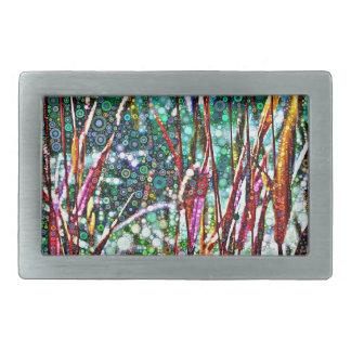 Boucle De Ceinture Rectangulaire Herbes pointillées d'automne