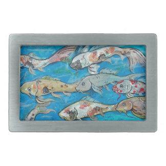 Boucle De Ceinture Rectangulaire Jardin personnel de l'eau de zen de poissons de