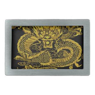 Boucle De Ceinture Rectangulaire Jaune épique de dragon