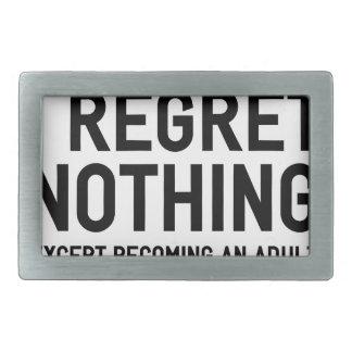 Boucle De Ceinture Rectangulaire Je ne regrette rien