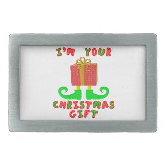Boucle De Ceinture Rectangulaire Je suis votre cadeau de Noël