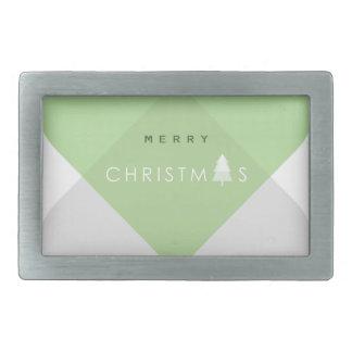 Boucle De Ceinture Rectangulaire Joyeux Noël - vert