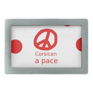Boucle De Ceinture Rectangulaire Langue et conception corses de symbole de paix