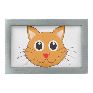 Boucle De Ceinture Rectangulaire Le chat orange au nez rouge