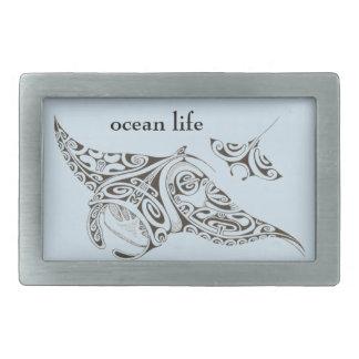 Boucle De Ceinture Rectangulaire le jumeau de la vie d'océan rayonne des