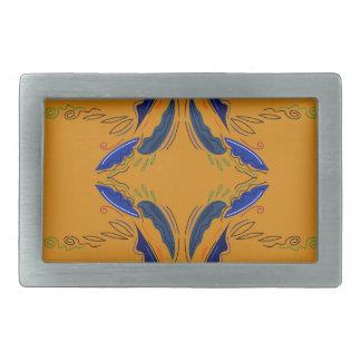 Boucle De Ceinture Rectangulaire Le luxe ornemente le cru de bleu d'or