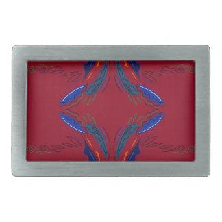 Boucle De Ceinture Rectangulaire Le luxe ornemente le rouge bleu