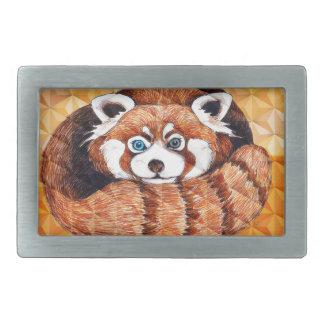 Boucle De Ceinture Rectangulaire Le panda rouge concernent le cubisme orange